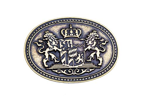 shenky - Belt buckle - Compatible with belts of 4 cm wide - 3402 Antique brass