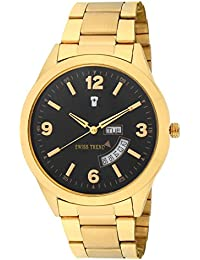Swiss Trend Exclusive Golden Day And Date Analog Watch For Men - OLST2284