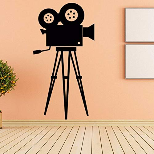 LLLYZZ Filmkamera Wandtattoo Movie Tool Vinyl Wandaufkleber Kino Retro Wandkunst Removable Home Decor Kamera Wand Poster 57 * 108 cm