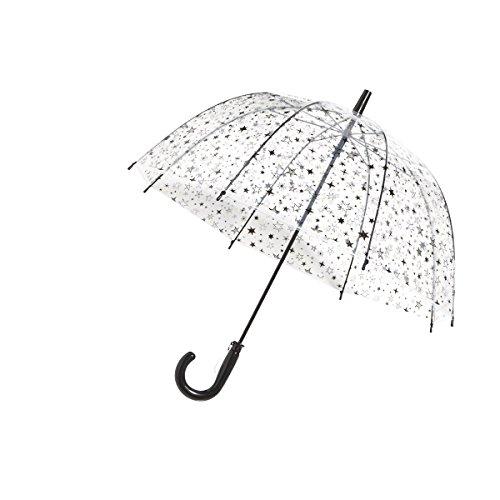 SMATI Parapluie long enfant transparent étoiles cloche en métal