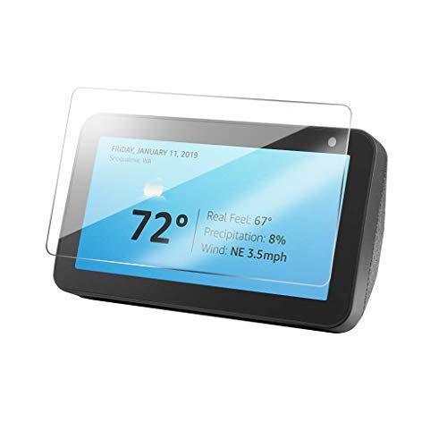 Schutzglas kompatibel mit Echo Show 5, Neue 8 Zoll 9H Härte Glas-Schutzfolie Bildschirm-Abdeckung, Schutz-Film HD Screen Protector Tempered Glass für Amazon Echo Show 5 (1pc) Film Gläser