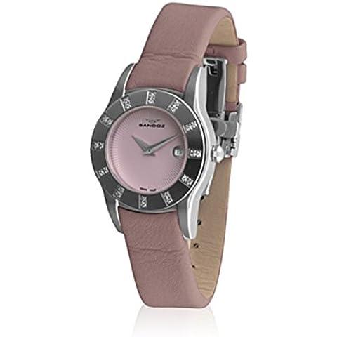 Sandoz 72544-77 - Reloj Col. Alba de diamantes rosa