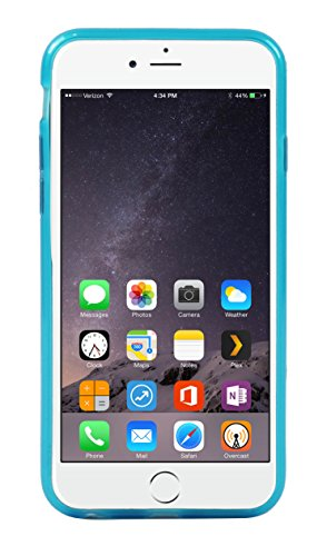 Luxburg® Housse Etui Coque Apple iPhone 6 silicone case TPU Vert pomme Inner Scrub - Bleu Clair