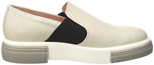 ... Pollini Damen 64579 Niedrige Sneaker Grigio (Ivory Mosaic Calf White-Stone  Sole)