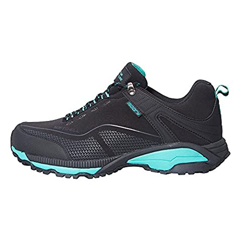Mountain Warehouse Collie Waterproof Women's Shoes - Lightweight, Waterproof & Breathable, Soft-shell Outer with Phylon Midsole, Rubber Outsole, Heel & Toe Bumper Black 5 UK