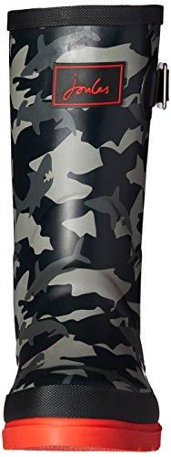 Joules Jnr Boys Welly, Bottes de Pluie garçon Multicolour (Shark Camo)