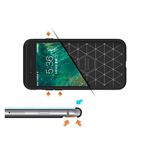 iPhone 8 Hülle / iPhone8 Hülle TPU Case, AVIDET Ultra Slim TPU Case für iPhone 8 / iPhone8 Schutzhülle (Schwarz) Blau