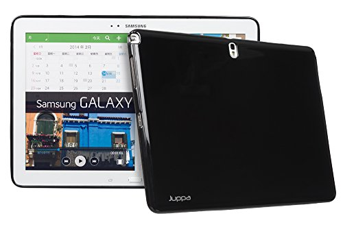Juppa® Samsung Galaxy Note Pro 12,2 Zoll SM-P900 SM-P905 TPU Silikon Tasche Hülle Schutzhülle mit HD LCD Displayschutz Schutzfolie Folie (Blau / Blue) Schwarz / Black
