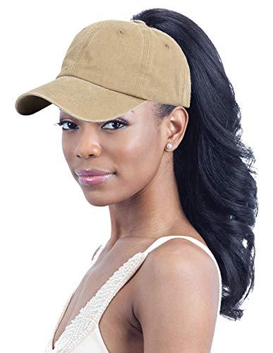 UTOWO Ponytail-Mütze für Damen, gewaschen, Braun - Khaki - Frei -
