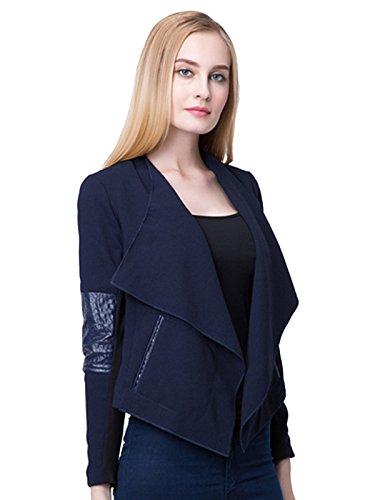 Jollychic - Veste - Style classique - Femme Bleu Marine