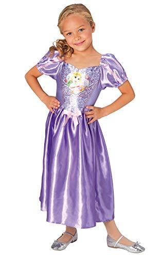Rubie's Offizielles Disney-Prinzessinnenkostüm Rapunzel, Pailletten für Kinder im Alter von 5-6 Jahren, Höhe 116 cm