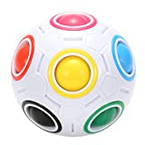 Twister.CK Magic Rainbow Ball Puzzle Speed Cube Educational Toy for Children Puzzle Ball Stress Relief for Teenagers Adu