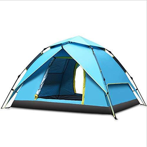 BG&MF Zelt Wasserdicht, verstellbare Plane und Zeltstangen Aluminiumlegierung im Freien Campingzelt für Markisenrahmen-Viele Leute-Blau
