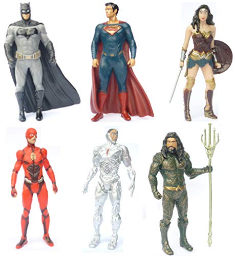 (Justice League Avengers Cake Topper Set 6er Batman Superman Flash Wonder Woman Cyborg Aquaman)