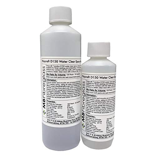 Polycraft Translux D150 Water Simulation Epoxy Casting Resin System - 500ml  Rigid Kit