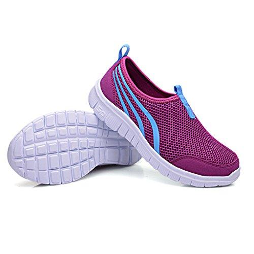 Eagsouni® Femme Hommes Respirante Mesh Sport Outdoor Chaussures De Course Athletic Sneakers #2violet