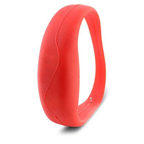 sourcingmap Ersatzteil Rot Silikon Armband Bewegend Leuchtend