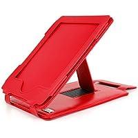 DURAGADGET`s rote Schutzhülle mit integriertem Stand + USB-Premium EU/DE Ladestecker - maßgefertigt - für den Amazon Kindle TOUCH und TOUCH 3G, Touchscreen