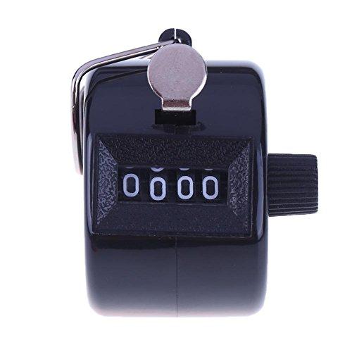everpert Clicker, 4-stellige Zahl und Hand-Shell AM, schwarz
