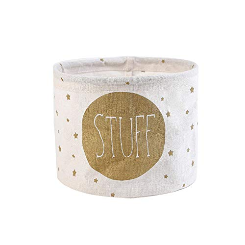 YUUWO Spielzeugkorb,Aufbewahrungskorb aus Stoff, Aufbewahrungskorb aus frischer Baumwolle und Leinen, Aufbewahrungskorb für kleine Kleidungsstücke@D_25,5 * 14 * 17,5 cm