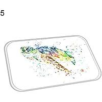 Teppich Terzsl Fisch Krabbenschildkröte Rutschfeste Fußmatte Bodenmatte Küche Badezimmer Home Decor - 5#