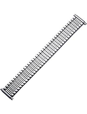 Uhrenarmband 18mm Metall Silber Flexibel XS, Extra Kurz - Flexband Aus Edelstahl - Marburger Ascoflex Uhrband...