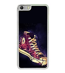 Shining Shoe 2D Hard Polycarbonate Designer Back Case Cover for Micromax Canvas Knight 2 E471