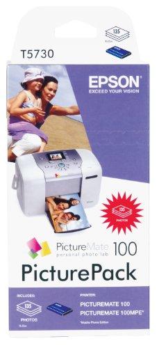 Epson PicturePack T5730 Cartouche imprimante d'origine / kit papier 1 x couleur (cyan, magenta, jaune, noir) 100 x 150 mm