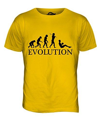 CandyMix Sit-Up Evolution Des Menschen Herren T Shirt Dunkelgelb