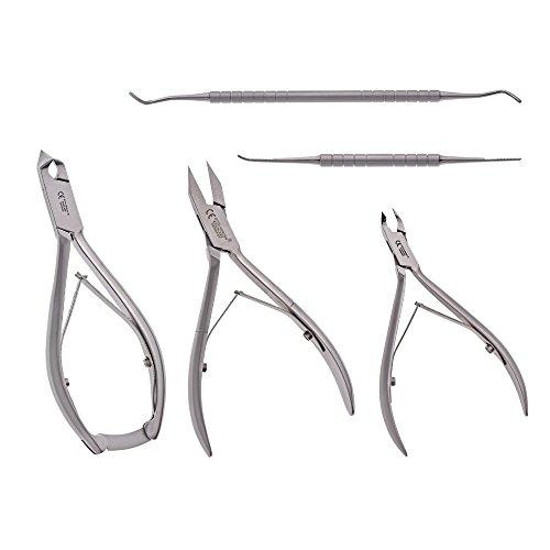 Otto Herder Lot de 5 pinces à ongles en acier inoxydable pour couper la tête, pince à épiler