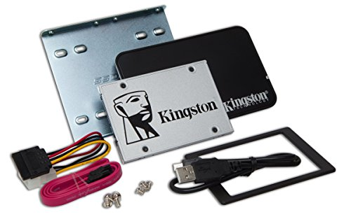 Kingston SSDNow UV400 240 GB solid state drive 2,5 Zoll SATA 3 mit Desktop/Notebook upgrade kit
