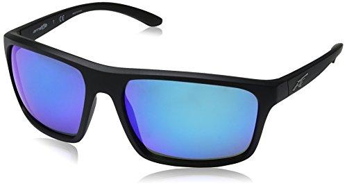 Arnette Herren 0AN4229 01/25 61 Sonnenbrille, Schwarz (Matte Black/Mirrorazure),
