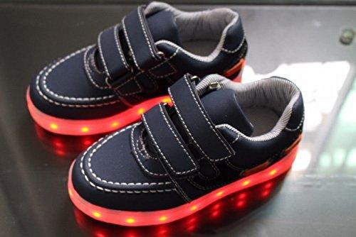 (Présents:petite serviette)JUNGLEST® Enfants fille garçon a mené la lumière jusquà formateurs de sneakers chaussures de sport Chaussures blue