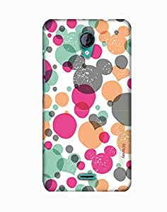 Pick Pattern with Exclusive DISNEY Characters Back Cover for Micromax A106 Unite 2