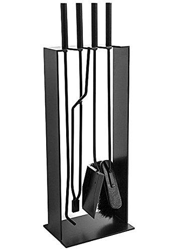 Preisvergleich Produktbild Conmoto 4tlg. Kaminbesteck 2 schwarz Stahl Kamingarnitur