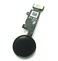 enoaFIX Ersatz Home Button kompatibel mit iPhone 7 / iPhone 7 Plus/iPhone 8 / iPhone 8 Plus in schwarz