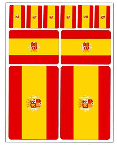 10pcs Pegatina España Spain Flag Bandera Vinilo Adhesivo