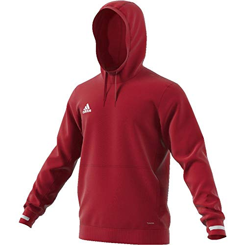 Adidas T19 Hoody M Sweatshirt, Hombre, Power Red/White