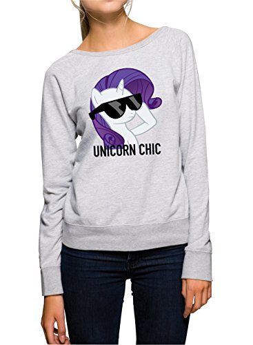 Unicorn Chic Sweater Girls Grey Certified Freak-XL