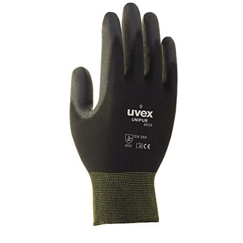 10 Paar uvex Unipur 6639 Arbeitshandschuhe mit PU Beschichtung – Schutzhandschuhe gegen mechanische Risiken EN 388