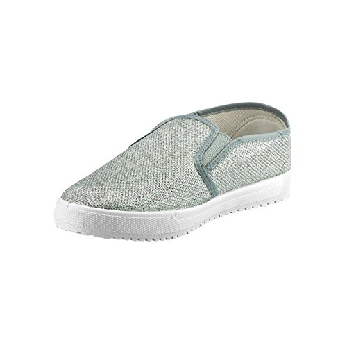Fashion4Young , Mocassins pour femme Pink Multicolor 36 Silber