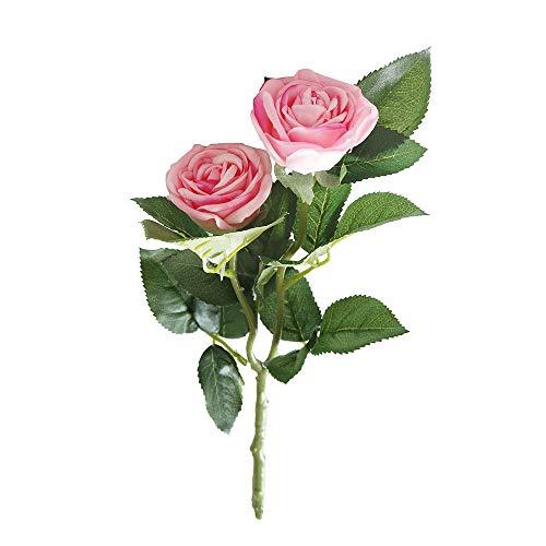 Yazidan Künstliche gefälschte Western Rose Blume Pfingstrose Brautstrauß Hochzeit Home Decor Rose Silk Blumen Blatt Garten Dekoration DIY Rosa Blume Heim-Dekoration und Ornamente\\n