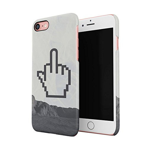 Middle Finger Emoji Fuck Off Psychedelic Acid Tie Dye Print Custodia Posteriore Sottile In Plastica Rigida Cover Per iPhone 6 & iPhone 6s Slim Fit Hard Case Cover Pixel Finger