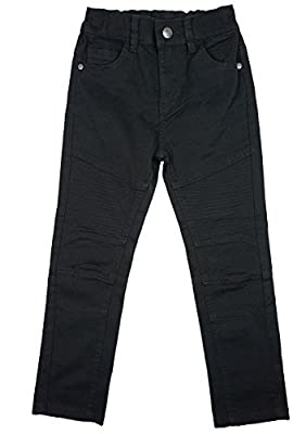 Girls Black Combat Style Slim Leg Stretch Cotton Jeans Sizes from 3 to 13 Years : everything 5 pounds (or less!)
