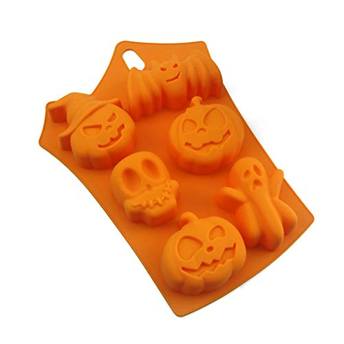 Silikon-Form Halloween Candy Ice Cube Formen Tabletts Ghost Kürbis Backen Schimmel für Halloween Schokolade Muffin Cups Ice Cube