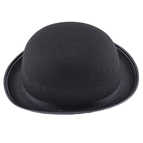 Skxinn Halloween für Damen & Herren in Schwarz,Magic Hat Jazz Hat Partyhut ideal für Zauberer, Karneval, Fasching, Steampunk, Gentleman