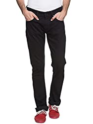 Spykar Mens Black Slim Fit Low Rise Jeans (Rico) (46)