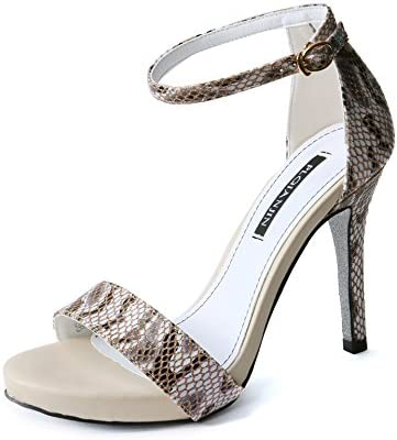 LGK&FA Super High Heel Shoes Women's Color Waterproof Table and Toe Toe Sandals. Thirty-Four Champagne Color