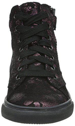 Richter Kinderschuhe Fedora, Baskets Basses Fille Rose - Pink (Eggplant/Black 7601)