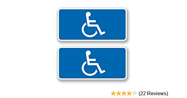 4 x Disabled Blue Mobility Badge Car Bus Sticker Campervan Caravan Decal 4440